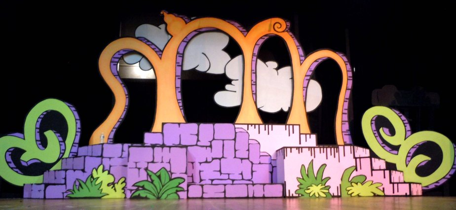 "Main Set. Set and Prop Design by Cally Curtis for ""Seussical, The Musical,"" McCoy's Grand Theatre."