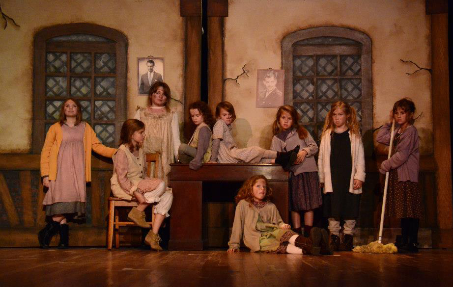 "Municipal Girls Orphanage. Set and Prop Design by Cally Curtis for the musical ""Annie,"" McCoy's Grand Theatre."
