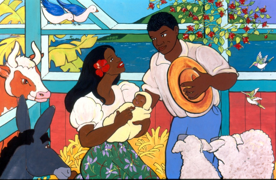 "Painting ""Jamaican Nativity"" by Cally Curtis"