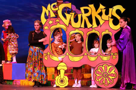 "Circus McGurkus Set, Suessical."" McCoy's Grand Theatre. Cally Curtis, Set Design."