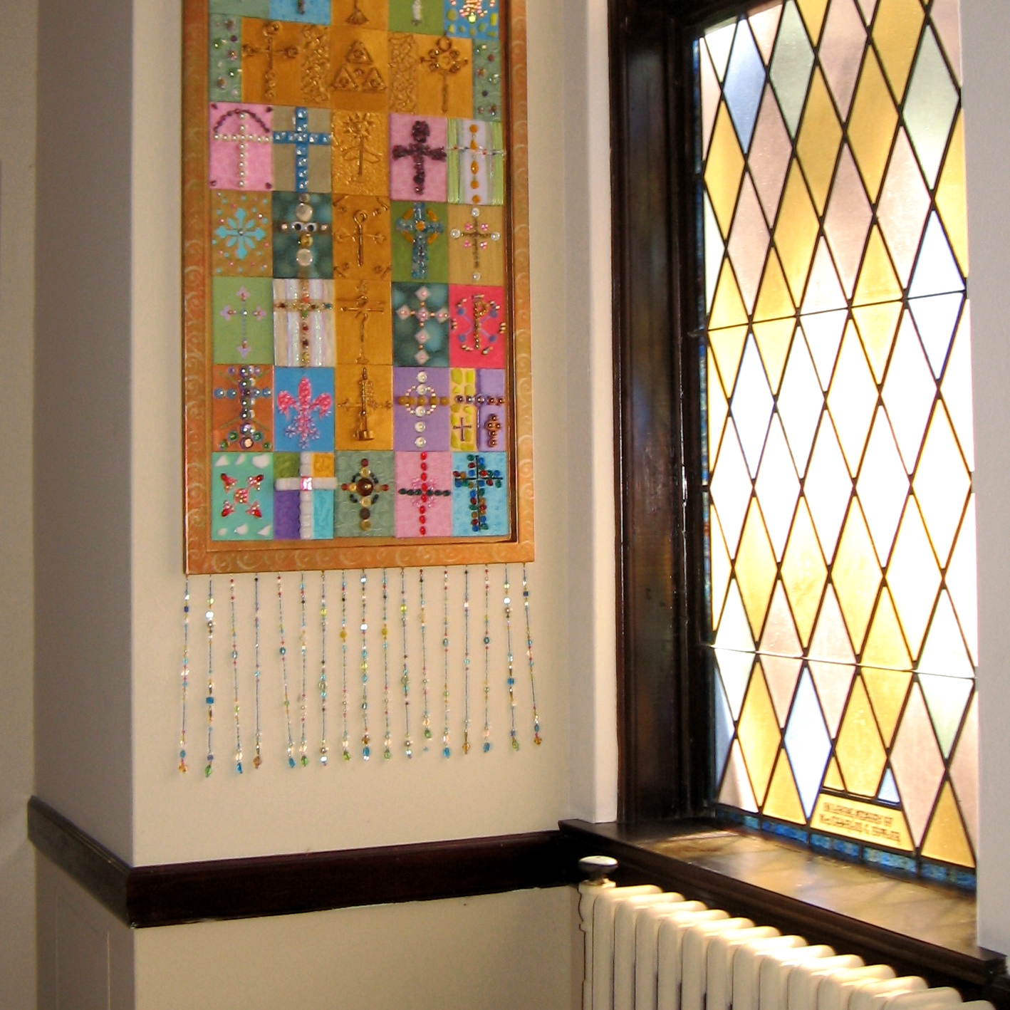 """""""Patchwork Cross"""" from Liturgical Art Workshop by Cally Curtis"""