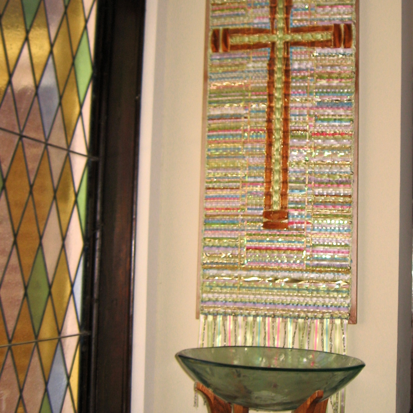 """""""Ribbon Cross"""" from Liturgical Art Workshop by Cally Curtis"""