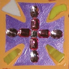 """Detail, """"At The Cross"""" Wall-Hanging. Liturgical Workshop. Cally Curtis, Artist & Facilitator."""