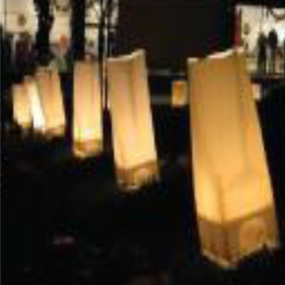 """""""Luminaries"""" example from """"Guide My Path"""" Liturgical Workshop. Cally Curtis, Artist & Facilitator."""